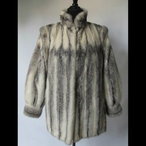 Luxury Vintage Cross Mink Fur Coat